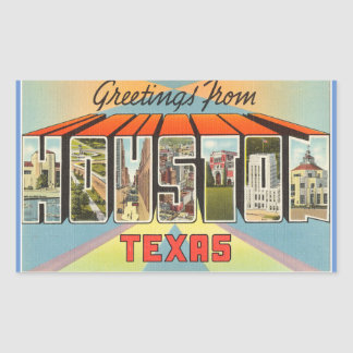 Texas, Sheet of 4 Houston stickers