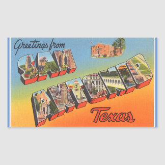 Texas, Sheet of 4 San Antonio stickers