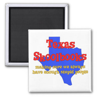 Texas Skoolbooks Square Magnet