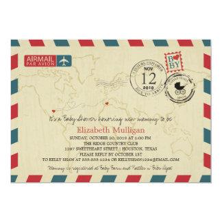 Texas / SPAIN Airmail   Baby Shower Card