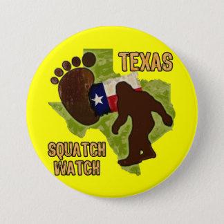 Texas Squatch Watch 7.5 Cm Round Badge