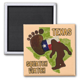 Texas Squatch Watch Square Magnet
