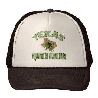 Texas Squatch Watcher Trucker Hats