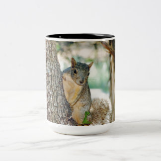 Texas Squirrels Two-Tone Coffee Mug