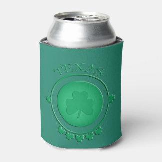 Texas St Patrick's Irish Shamrock Can Cooler