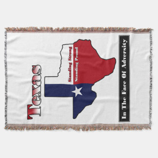 Texas Standing Strong Throw Blanket