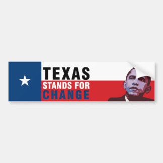 Texas Stands for Change - Obama Bumper Sticker