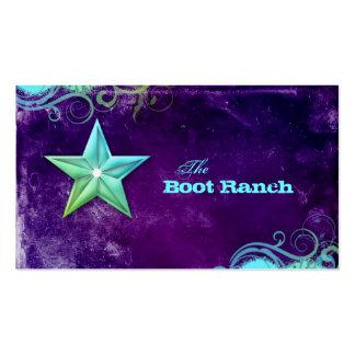 Texas Star Business Card Purple Blue Jewellery