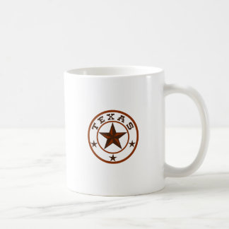 TEXAS STAR EMBLEM COFFEE MUGS