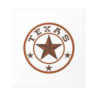 TEXAS STAR EMBLEM NOTEPAD