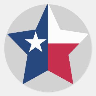 Texas Star Round Sticker