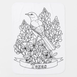 Texas State Bird & Flower Coloring Page Buggy Blankets