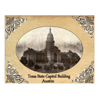 Texas State Capitol Building Old Postcard