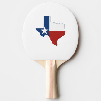 Texas State Flag and Map Ping Pong Paddle
