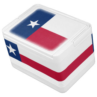 Texas state flag - high quality authentic color cooler