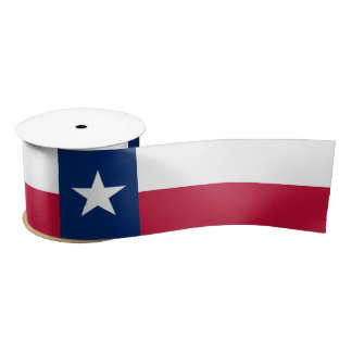 Texas state flag - high quality authentic color satin ribbon