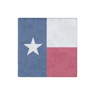 Texas state flag - high quality authentic color stone magnet