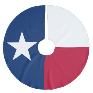 Texas state flag - high quality authentic colour brushed polyester tree skirt