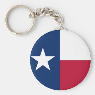Texas State Flag Key Ring