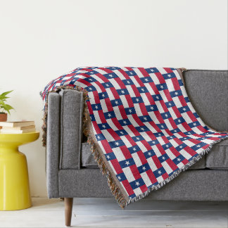 Texas state flag pattern big woven throw blanket