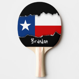 Texas State Flag Ping Pong Paddle
