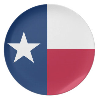 Texas State Flag Plate