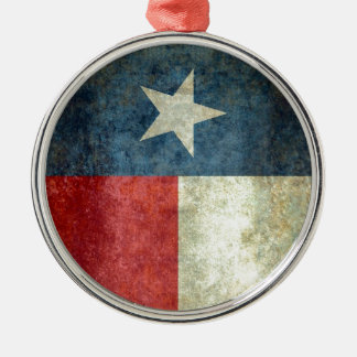Texas state flag - vertical banner style metal ornament