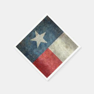 Texas state flag vintage retro paper napkins