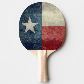Texas state flag vintage retro Ping Pong Paddles