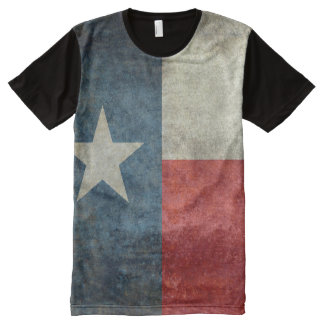 Texas state flag vintage retro style all over Tee