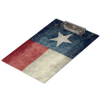 Texas state flag vintage retro style Clipboard