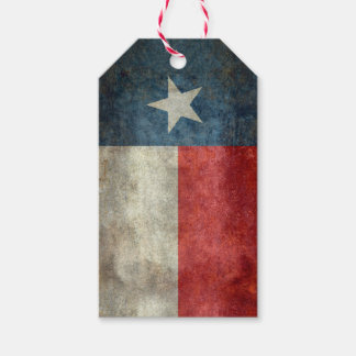 Texas state flag vintage retro style Gift Tags