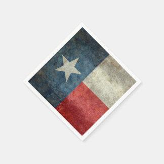 Texas state flag vintage retro style Paper Napkins
