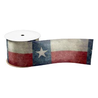Texas state flag vintage retro style Ribbon Satin Ribbon