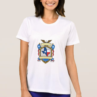 Texas State Map Flag Coat of Arms Retro T-Shirt