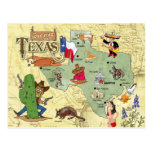 Texas State Map Postcard
