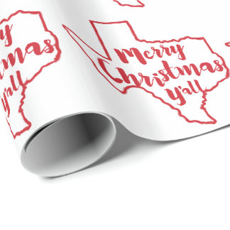 Texas State Merry Christmas Wrapping Paper