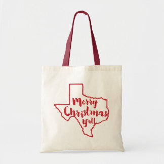 Texas State Merry Christmas Y'all Tote Budget Tote Bag