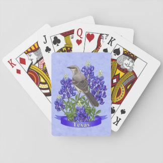 Texas State Mockingbird & Bluebonnet Flower Card Deck