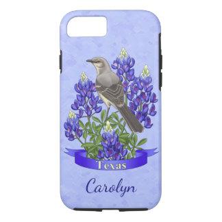 Texas State Mockingbird & Bluebonnet Flower iPhone 7 Case