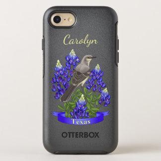 Texas State Mockingbird & Bluebonnet Flower OtterBox Symmetry iPhone 7 Case