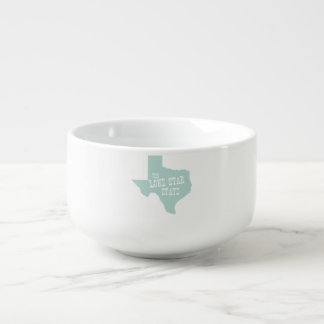 Texas State Motto Slogan Soup Bowl With Handle