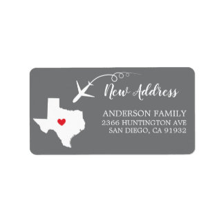Texas State | New Home Return Address Label