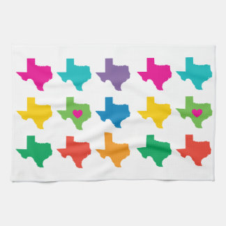 Texas State Pattern Kitchen Towel- Bright Colors Tea Towel