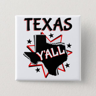 Texas State Pride Y'all 15 Cm Square Badge