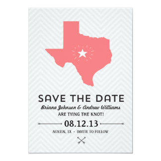 Texas State Save the Date Card