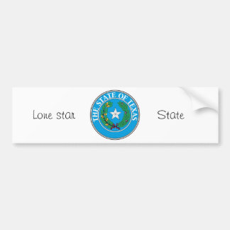 Texas State Seal and Motto Bumper Sticker