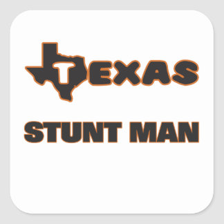Texas Stunt Man Square Sticker
