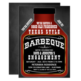 Texas Style BBQ Party Invitations