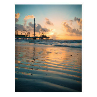 Texas Sunrise at Galveston Postcard